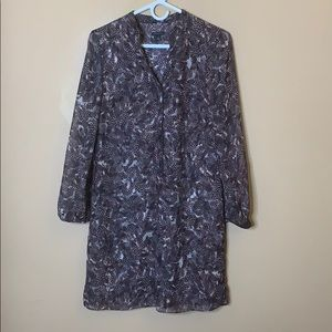 Ann Taylor feather print shift dress